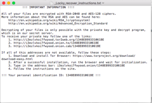 Ransomware, virus Locky a jeho odstranění - správa sítí, outsourcing IT | I